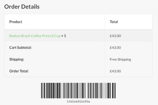 WooCommerce Order Barcodes 1.3.4