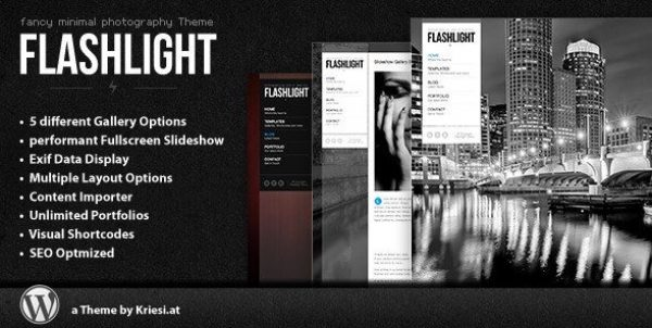Flashlight – Fullscreen Background Portfolio Theme 4.3