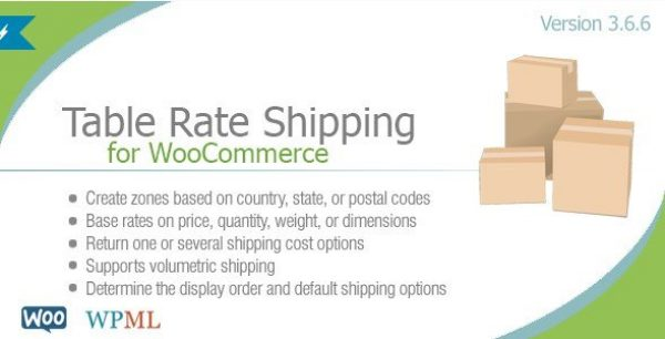 Table Rate Shipping For WooCommerce By Bolderelements 4.1.3