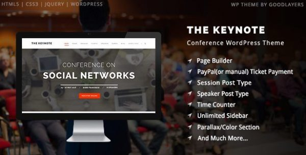 The Keynote – Conference Event Meeting WordPress Theme 2.20