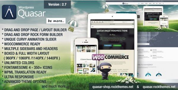 Quasar – WordPress Theme With Animation Builder 3.0.5