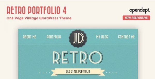 Retro Portfolio – One Page Vintage WordPress Theme 4.9.2