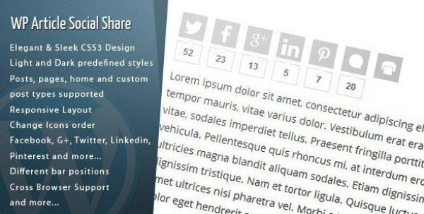 WordPress Article Social Share 1.3.4