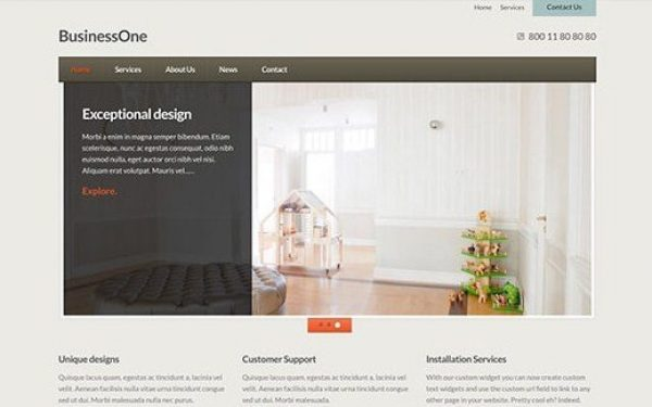 CSS Igniter BusinessOne WordPress Theme 2.3
