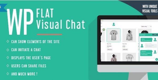 WP Flat Visual Chat – Live Chat & Remote View for WordPress 5.370