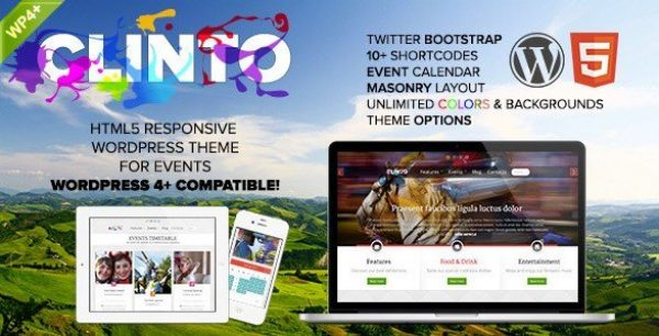 Clinto – HTML5 Responsive WordPress Theme for Events 1.0