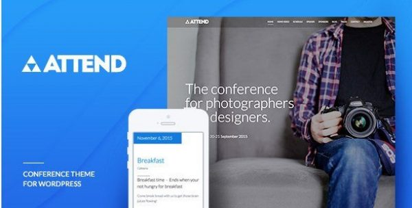 Conference & Event WordPress Theme – Attend 1.0.4
