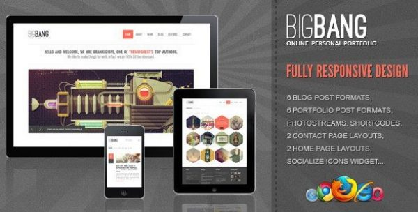Bigbang – Responsive WordPress Template 2.3