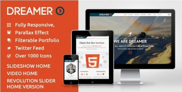 Dreamer – Photo & Video Parallax WordPress Theme 3.1
