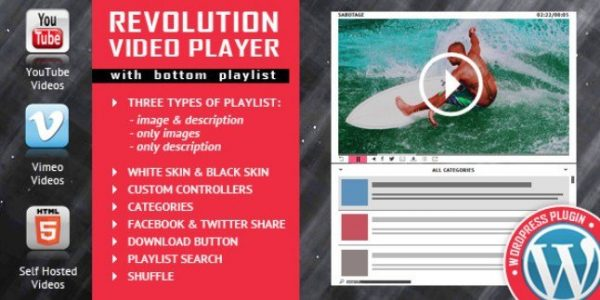Revolution Video Player With Bottom Playlist 1.7.1
