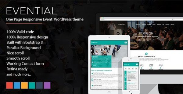 Evential – One Page Responsive Event WordPress Theme 1.4.1