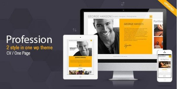 Profession – One Page CV Resume Theme 2.9.4