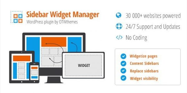 Sidebar & Widget Manager for WordPress 3.24