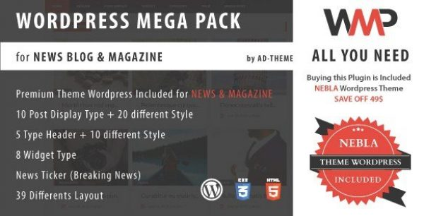 WP Mega Pack for News, Blog and Magazine Plugin 1.0