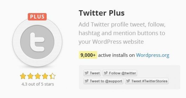 Twitter Plus WordPress Plugin 2.57