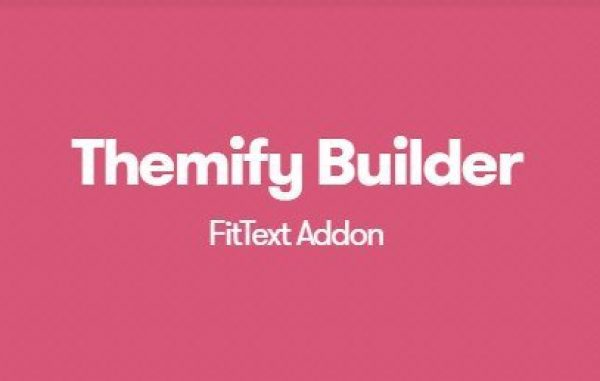 Themify Builder FitText Addon 1.1.4