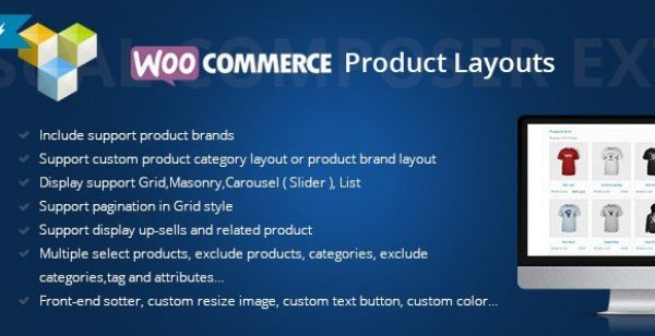Woocommerce Products Layouts For Visual Composer 2.3.1