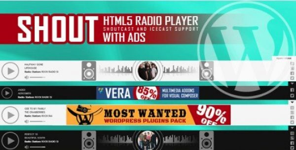 SHOUT – HTML5 Radio Player With Ads Plugin 1.2.3