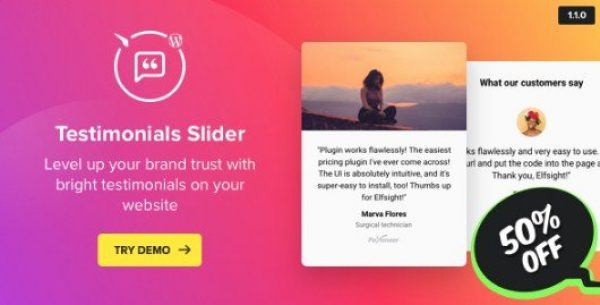 Testimonials Slider – WordPress Testimonials Plugin 1.1.0