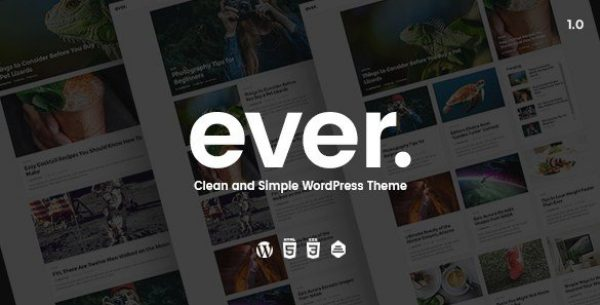 Ever – Clean and Simple WordPress Theme 1.2.2