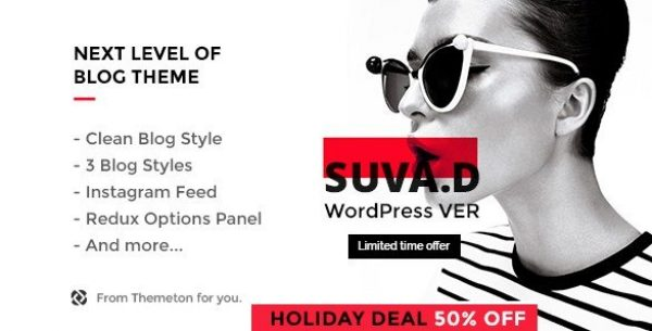 SUVAD – Personal Blog WP Theme 1.1