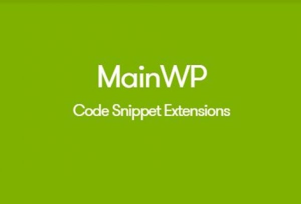 MainWP Code Snippets Extension 1.2