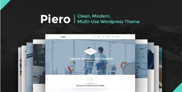 PIERO – Clean Modern Multi-Use WordPress Theme 2.1.1
