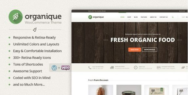 Organique – WordPress Theme For Healthy Food Shop 1.11.6