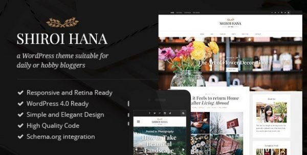 Shiroi Hana – An Elegant Blogging Theme 2.3.1