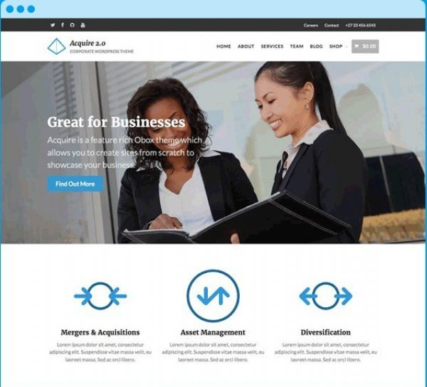 OboxThemes Acquire WooCommerce Themes 1.0