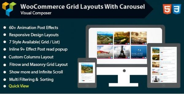 Visual Composer – Woocommerce Grid with Carousel 1.0