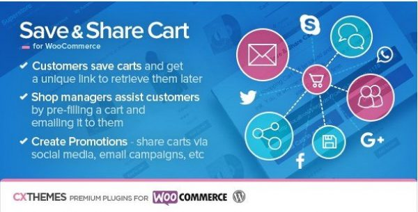 Save & Share Cart for WooCommerce 2.17