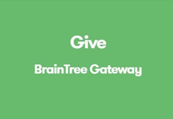 Give BrainTree Gateway 1.2.3