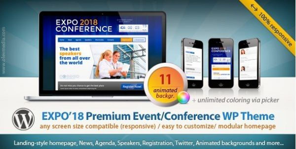 Expo18 – Responsive Event Conference WordPress Theme 1.2.4