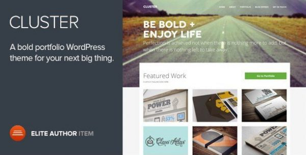 Cluster – A Bold Portfolio WordPress Theme 2.0.3