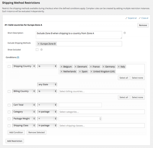 WooCommerce Conditional Shipping and Payments 1.4.1